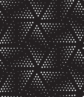 Reticolo senza giunte geometrico di semitono di vettore in bianco e nero puntinismo di design moderno di semitono