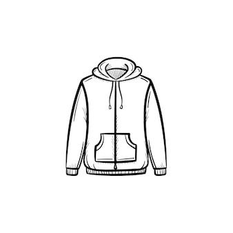 Icona di doodle di contorno maglione disegnato a mano di vettore. illustrazione di schizzo di maglione per stampa, web, mobile e infografica isolato su sfondo bianco.