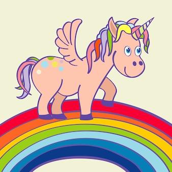 Condizione disegnata a mano dell'unicorno di vettore