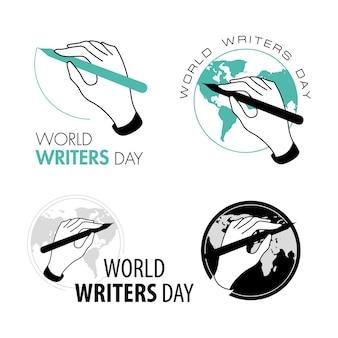 Vector mani illustrazione isolato arte logo bianco e nero studio d'arte scrittore segno business world