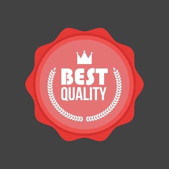 Distintivo piatto di alta qualità di vettore, etichetta rotonda.