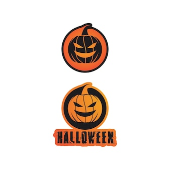 Icona di vettore per biglietto di auguri helloween e segno di festa poster illustrazione di concetto con segno e simbolo