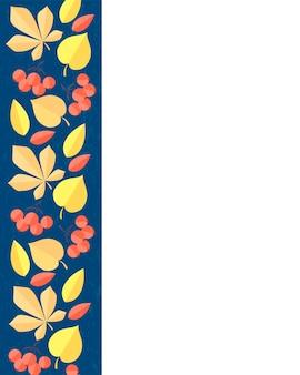Illustrazione vettoriale della decorazione delle foglie autunnali biglietti d'auguri autunnali perfetti per volantini di stampe