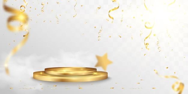 Illustrazione vettoriale per i vincitori del premio piedistallo o piattaforma per onorare i vincitori del premio Vettore Premium