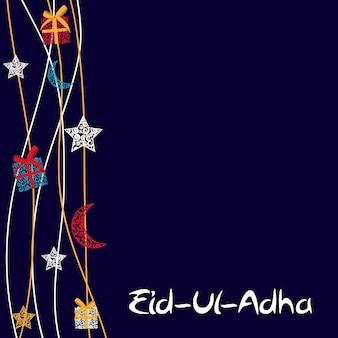 Illustrazione vettoriale di un bellissimo biglietto di auguri design 'eid adha