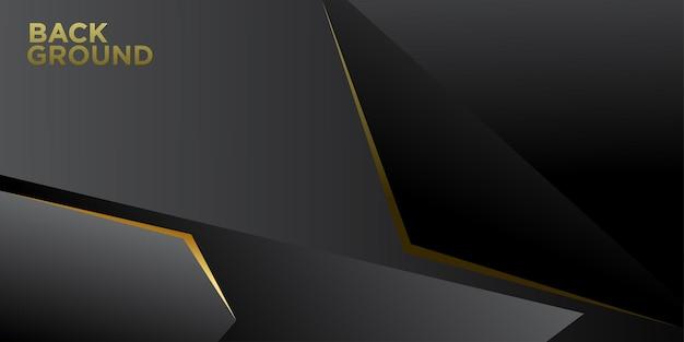 Illustrazione vettoriale sfondo minimalista astratto nero e oro