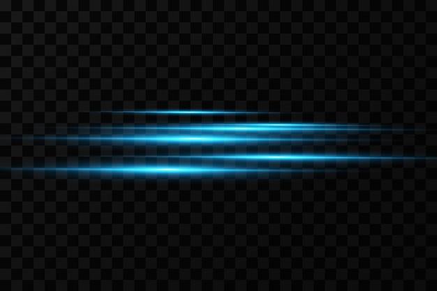 Illustrazione vettoriale di un colore blu effetto luce raggi laser astratti di luce raggi al neon caotici
