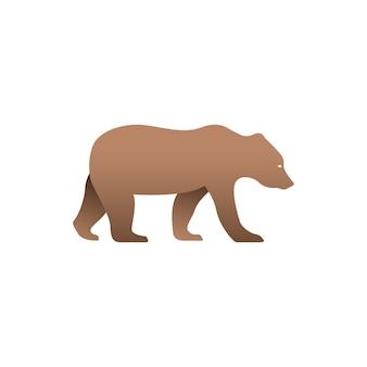 Illustrazione vettoriale di orso bruno Vettore Premium