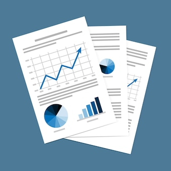 Illustrazione vettoriale di documenti aziendali
