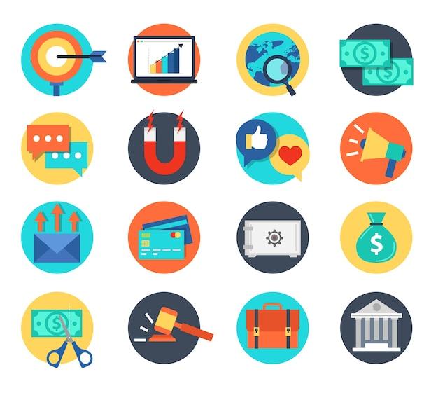 Illustrazione vettoriale di bussiness icona e risorse umane