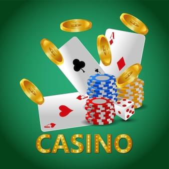 Illustrazione vettoriale del gioco d'azzardo del casinò