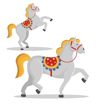 Illustrazione vettoriale. cavallo da circo.