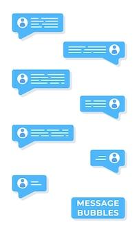 Illustrazione vettoriale di corrispondenza nel social network. chatta tra due persone. corrispondenza di lavoro. informazione. collega al lavoro. disposizioni per un incontro.