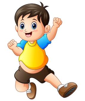 Illustrazione vettoriale di cartone animato carino ragazzo