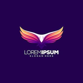 Illustrazione vettoriale logo design aquila Vettore Premium