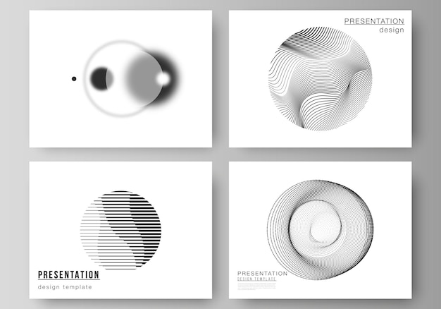 Illustrazione vettoriale del layout modificabile dei modelli di business di progettazione diapositive di presentazione. sfondo astratto geometrico, scienza futuristica e concetto di tecnologia per un design minimalista.