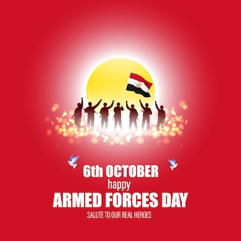 Illustrazione vettoriale per l'egitto forza armata giorno-6 ottobre