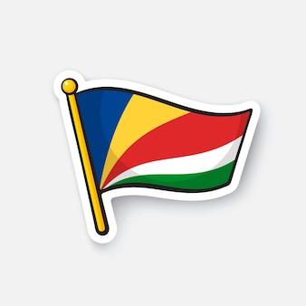 Illustrazione vettoriale bandiera dei paesi delle seychelles in africa simbolo di posizione per i viaggiatori