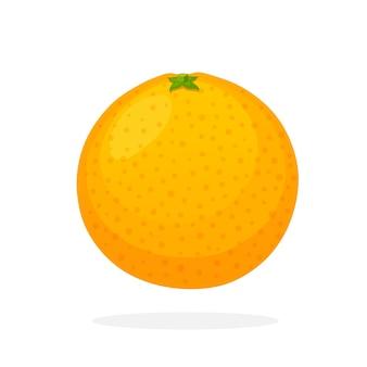 Illustrazione vettoriale in stile piatto arancia intera cibo vegetariano sano agrumi