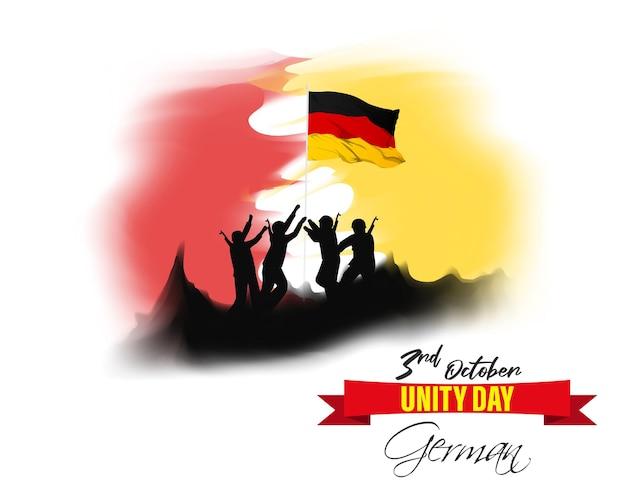 Illustrazione vettoriale per il giorno dell'unità tedesca-3 ottobre