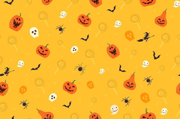 Illustrazione di vettore del reticolo senza giunte della decorazione di concetto di halloween felice.