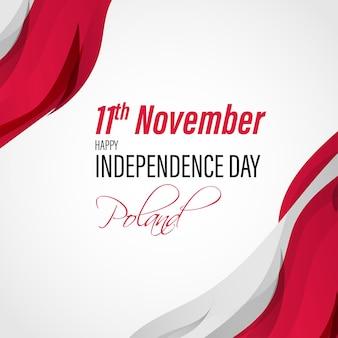 Illustrazione vettoriale di felice festa dell'indipendenza della polonia