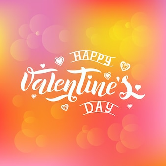 Illustrazione vettoriale di testo happy valentines day per biglietto di auguri, modello di banner. felice giorno di san valentino lettering poster tipografia.