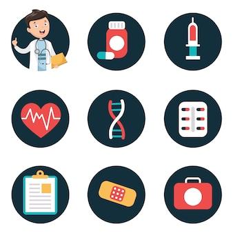 Illustrazione vettoriale di assistenza sanitaria e medica