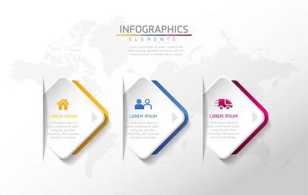 Illustrazione vettoriale infografica modello di progettazione informazioni aziendali