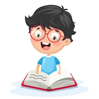 Illustrazione vettoriale di scrittura del bambino