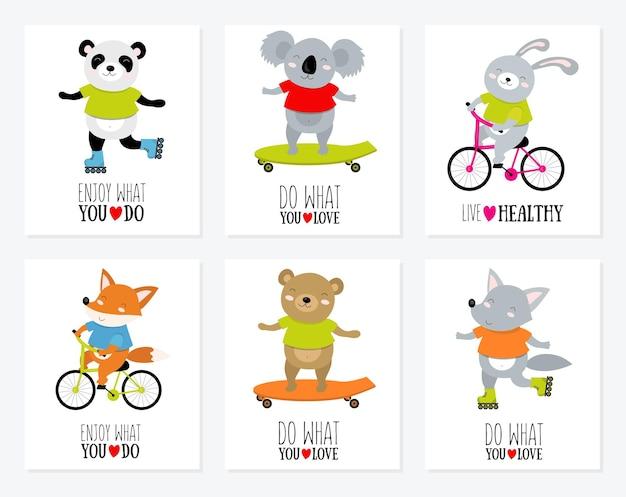 Illustrazione vettoriale di koala su una bicicletta con citazione motivazionale