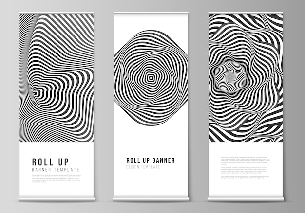 Il layout di illustrazione vettoriale di roll up banner stand