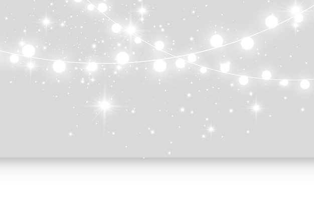 Illustrazione vettoriale di una ghirlanda leggera su uno sfondo trasparente
