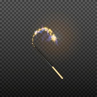 Illustrazione vettoriale di bacchetta magica isolata su sfondo trasparente