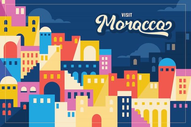 Illustrazione vettoriale del marocco Vettore Premium