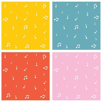 Illustrazione vettoriale di sfondo di note musicali