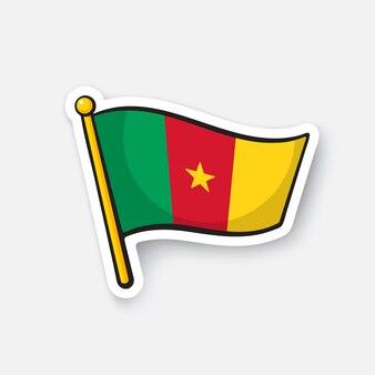 Illustrazione vettoriale bandiera nazionale dei paesi del camerun in africa simbolo di posizione per i viaggiatori