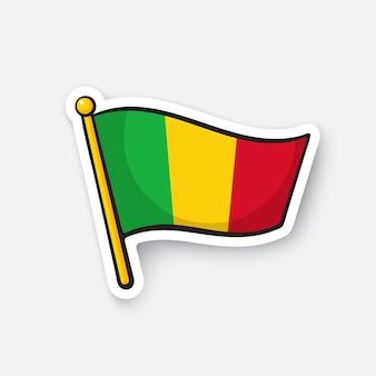Illustrazione vettoriale bandiera nazionale dei paesi del mali in africa illustrazione vettoriale