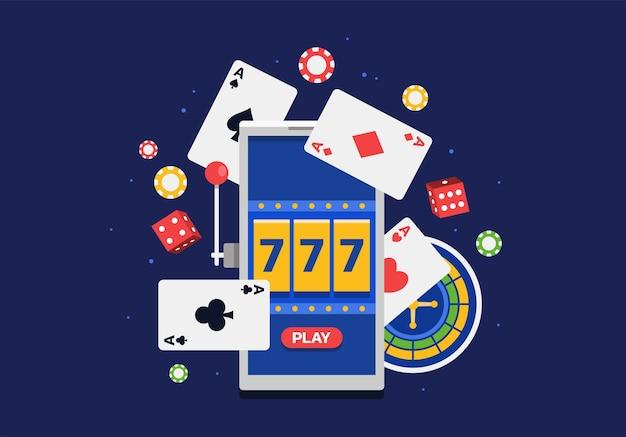 Illustrazione vettoriale della piattaforma di gioco d'azzardo online