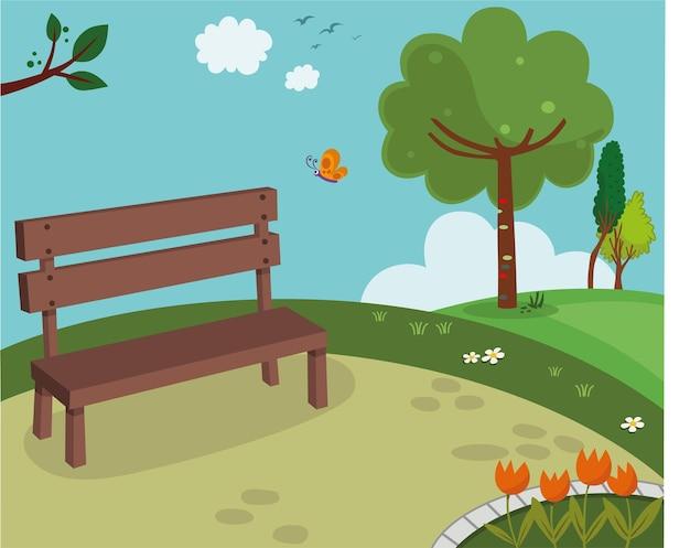 Illustrazione vettoriale di un parco