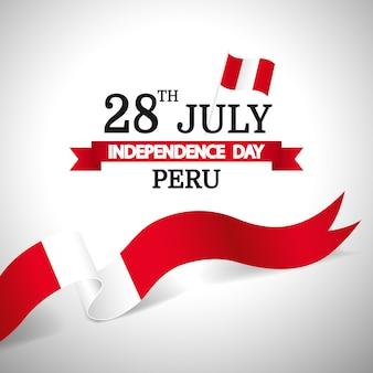Illustrazione vettoriale della festa dell'indipendenza del perù.