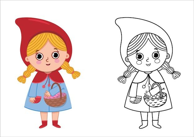 Illustrazione vettoriale di cappuccetto rosso