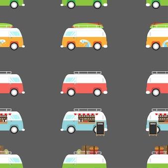 Illustrazione vettoriale di un furgone retrò
