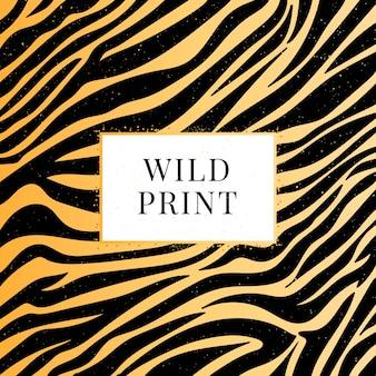 Illustrazione vettoriale di stampa selvaggia zebra senza soluzione di continuità
