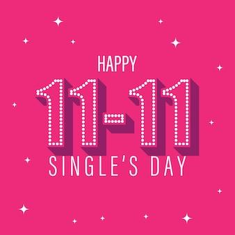 Illustrazione vettoriale per il banner del giorno dei single