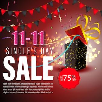 Illustrazione vettoriale per la vendita del giorno dei single