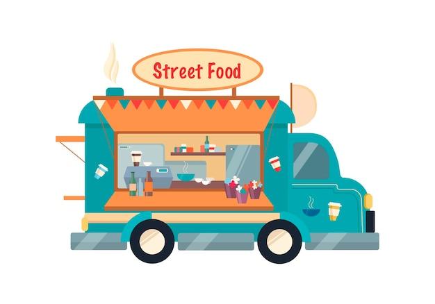 Illustrazione vettoriale di cibo di strada camion di cibo di strada concetto di camion di cibo di strada