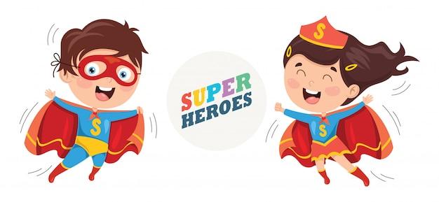 Illustrazione vettoriale di supereroi