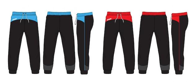 Illustrazione vettoriale di pantaloni della tuta. Vettore Premium