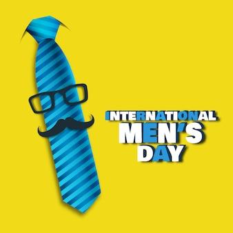 Illustrazione vettoriale sul tema giornata internazionale degli uomini.